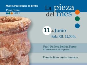 El altar romano de Trigueros, pieza del mes en el Museo Arqueológico de Sevilla