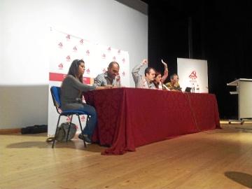 Presidencia de la Conferencia Provincial del PCA en Huelva.