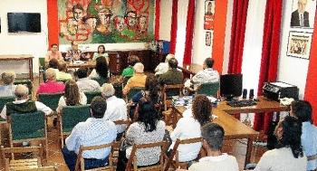 Acto del PSOE en Trigueros.