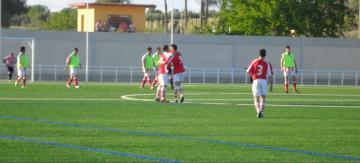 C.D. Rociana 3-1 Trigueros celebración tercer gol